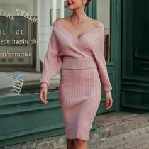 Fashion V-Neck Tight-Fitting Evening Dress