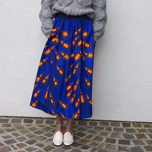 Casual Women Printed Loose Skirt RY58