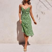 Fashion sling print pajamas dress