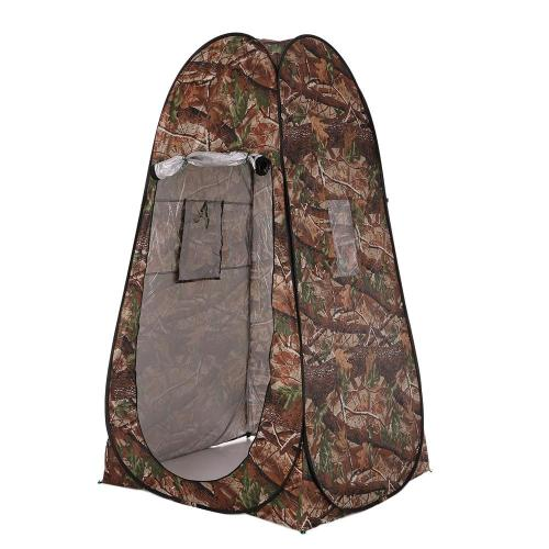 Outdoor Portable Privacy Shower Toilet Tent Camping Pop Up Tent Camouflage Changing Tent UV Function Dressing Tent