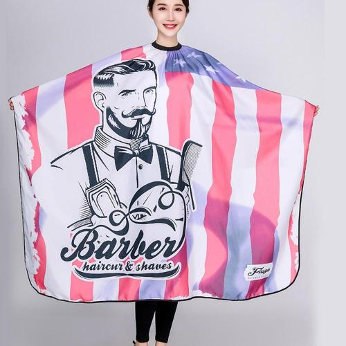 New American flag Pattern Haircut Hairdressing Barber Cloth Apron Polyester Cape Hair Styling Design Supplies Salon Barber Gown