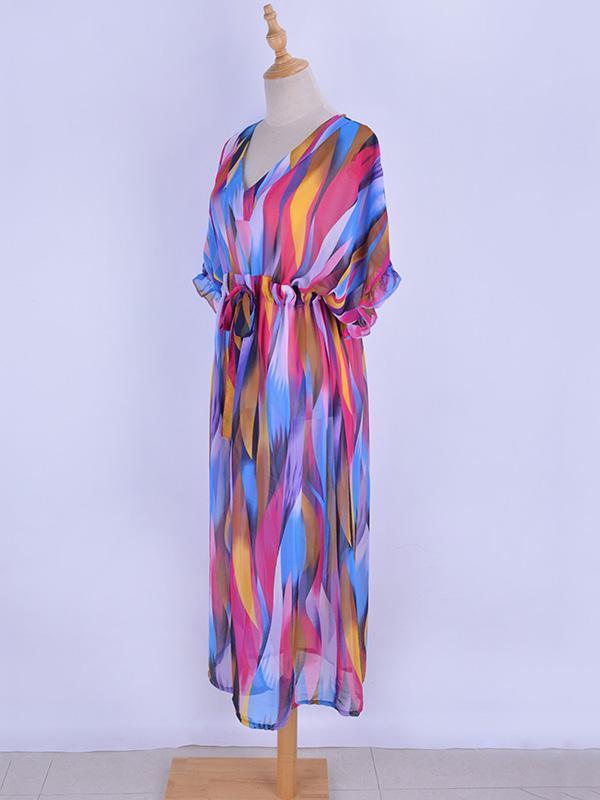 Chiffon Striped Printed Blouse