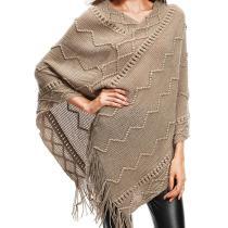 Irregular Knitted Tassel Sweater