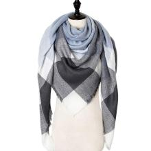Winter Cashmere Scarf Women Scarf Plaid Blanket New Designer Triangle Pashmina Shawls and Scarves 140*140*210cm