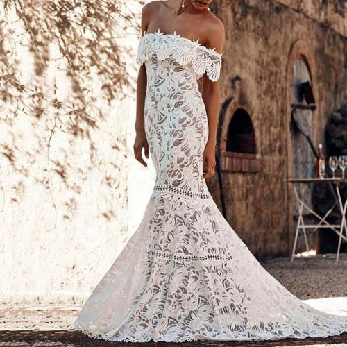 Lace Out-off-shoulder Bodycon Evening Dress