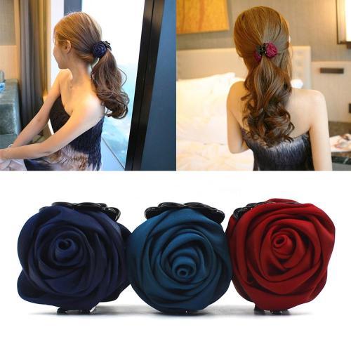 Fashion Hair Clip Barrette Rose Hair Claws Clips Hair Crab Clamp Hairpin Headwear For Women Korean Hair Styling Accessorie