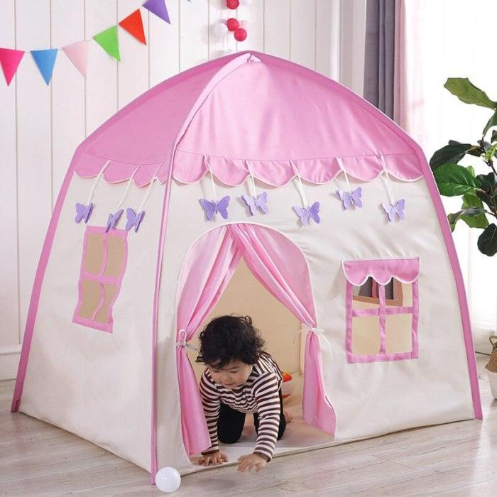 Indoor Children Princess Game House Outdoor Butterfly Flower Folding Baby Toy Castle Tent For Birthday Gifts