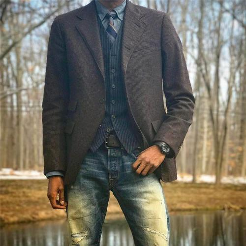Fashion men's solid color blazer