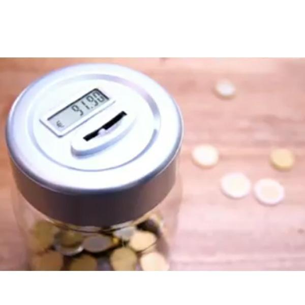 Electronic Counting Change Coin Money Saving Collection Box