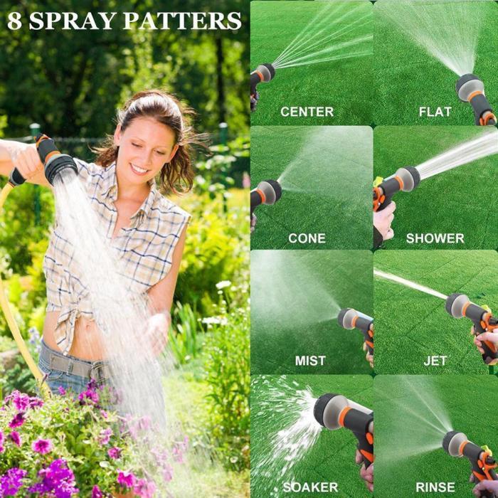 Multifunctional Garden Watering Spray Gun Household Car Wash Nozzle Water Gun Garden Watering Spray Gun