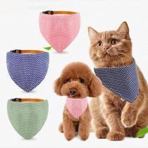 Pet Accessories Cat Dog Bandana Washable & Reversible Triangular Cotton Dog Puppy Bib Scarf Collar Adjustable for Small Dog Cat