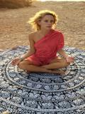 Pretty Summer Round Shawl Beach Mat Yoga Mat
