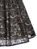 1950s Floral Lace Swing Dress
