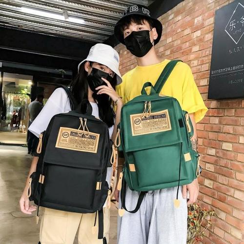 2020 fashion Backpack Solid Color Backbag Mochilas Female Shoulder Bag For Teenage Girl School Bag Bagpack Rucksack