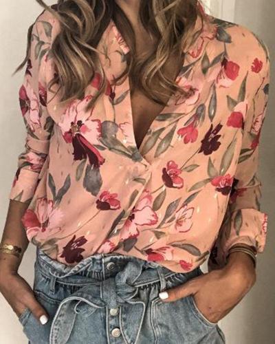 Vintage Floral Long Sleeve Top
