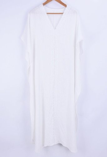 Beach Dress, Cover Up, Kaftan Dress, Embroidered Dress, All White