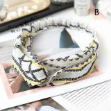 2020 Fashion Lady Hair Accessories Turban Headbands Cross Knotted Bandanas Elastic Flower Prints Hairband Head Wrap For Girls