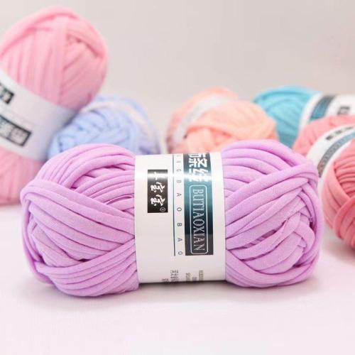 1Pc=100g Colored Weaving Thread Yarn Soft Polyester Woven Bag Carpet DIY Hand-knitted Material