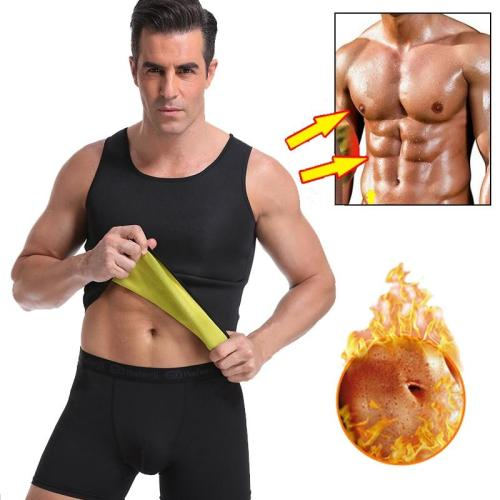 Men Neoprene Sweat Sauna Vest Body Shapers Waist Trainer Slimming Shapewear Tummy Control Belly Waist Shaper Fat Burning Corset