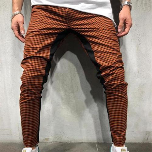 3D Printed Plaid Stitching Men's Men's Sports Pants