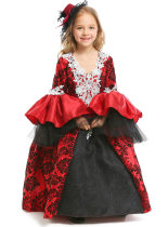 Halloween Girls Vampire Dress Masquerade