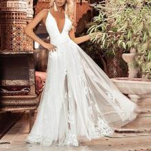 Sexy Deep V Sleeveless Camisole Long Dress