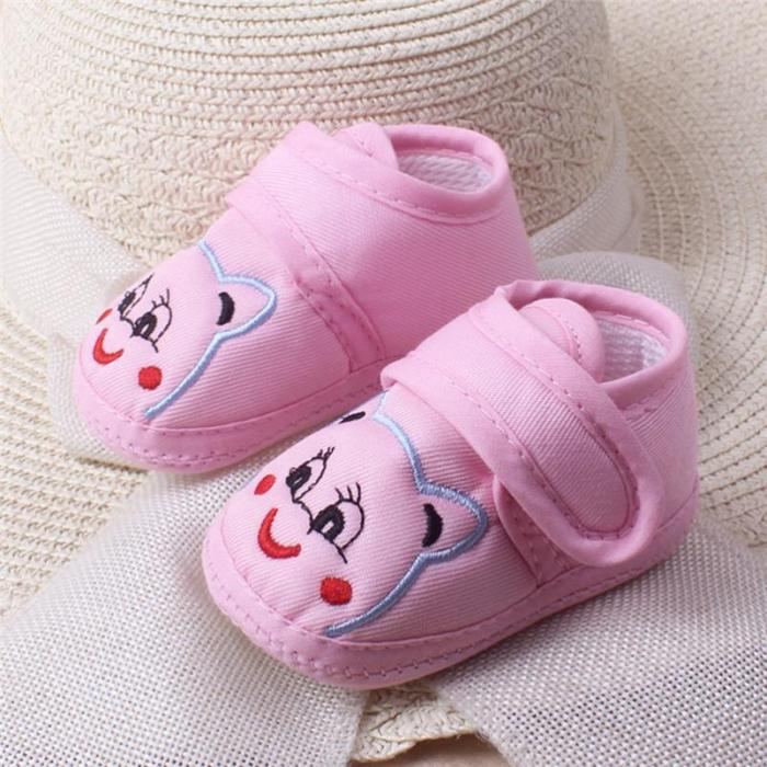 Newborn Baby Girl Boy Shoes Soft Sole Cartoon Anti-slip Shoes Comfortable Cotton Toddler Baby Shoes Baby First Walk zapatos