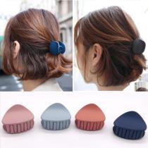 2020 1PC New Arrival Korean Fashion Design Women Hair Claw Solid Color Hair Crab Retro Square Scrub Hair Clips