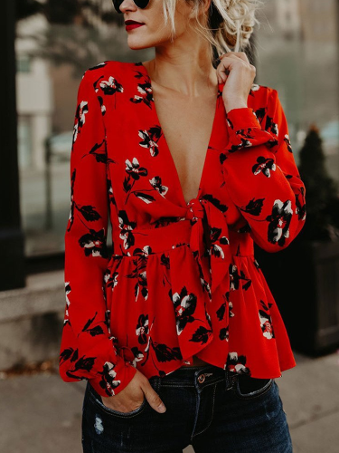 Sexy V Collars Tied To Distinctive Print Tops