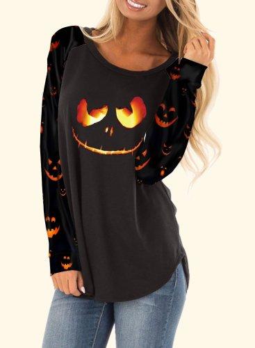 Casual Halloween Long Sleeve Hoodie