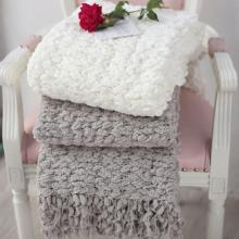 Nordic Style Casual American Style Chenille Leisure Crocheted Throw Blankets for Beds Bed Sofa Cover Solid Plaids Home Textiles
