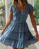 Sweet Little Floral Hot Style Print Mini Dress
