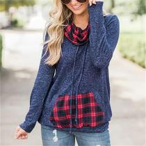 Stacked Collars-Patterned Casual T-Shirts And Hoodies
