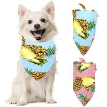 1pcs Pet Bandana Pineapple Pattern Hawaiian Style Dog Bandana Bib Pet Bib for Party