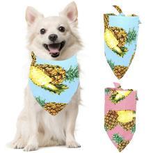 1pcs Pet Bandana Pineapple Pattern Hawaiian Style Dog Bandana Bib Pet Bib for Party