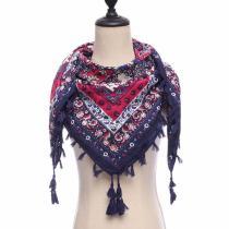 2020 new brand women scarf square cotton shawls and wraps lady pashmina Tassels Bohemia foulard winter female bandana hijabs
