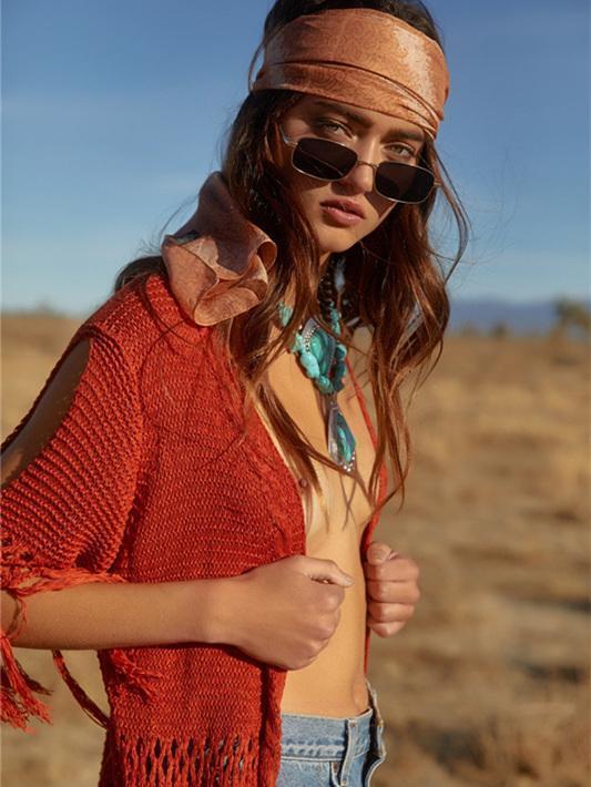 Knitting Hollow Split Tassels Cover-Ups