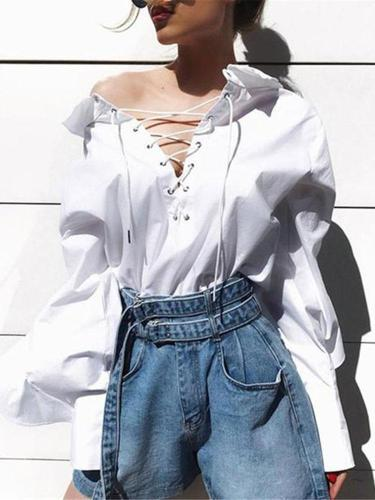 Fashion Lotus Leaf Long Sleeve Shirt
