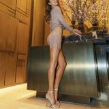 Stylish And Sexy V-neck Long-sleeved Bodycon Dresses