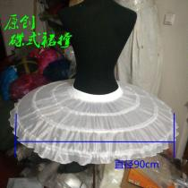 Petticoat Girl 3 Layers Hoopless Three Layers Net White Ball Gown Flower Girl Dress Crinoline for Wedding Party Underskirt 2020