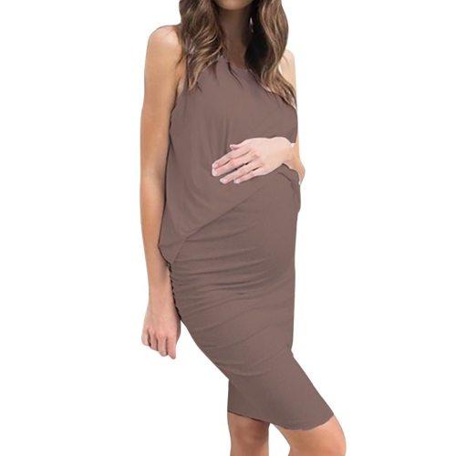 Summer New Fashion Women Pregnant Maternity Stripe Tunic Breastfeeding Summer  Maternity Dress
