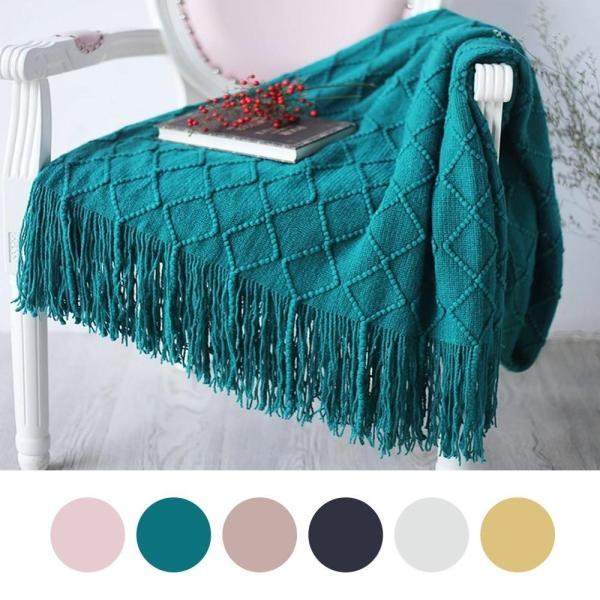 Nordic Knitted Throw Thread Blanket Bedding Sofa Plaid Travel TV Nap Blankets Soft Towel Bed Plaid Tapestry