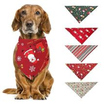 Dog Bandana Accessories Christmas Santa Claus Deer Scarf Collar Bib Grooming Triangular Bandage Collars for Small Medium Large