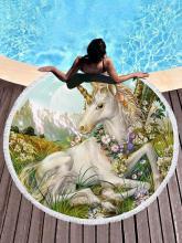 Printed Unicorn Beach Mats