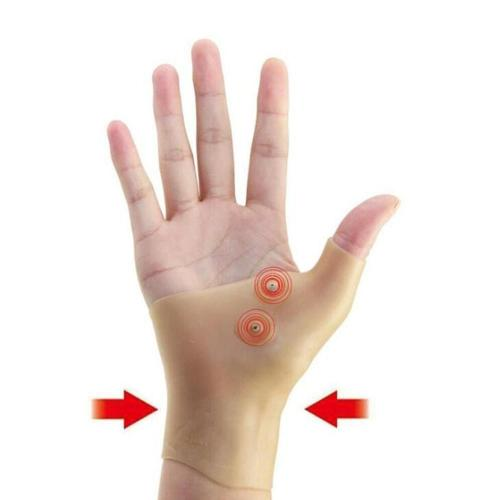 1pc Magnetic Therapy Wrist Hand Thumb Support Gloves Silicone Gel Pressure Corrector Massage Pain Relief Gloves