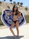 Popular Bohemia Printed Tassels Round Beach Mat Yoga Mat