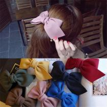 EBUYTIDE Fashion Big Cloth Bows Hair Clips for Women Girls Lovely Bowknot Barrette Hairpins Headwear Velvet Hair Accessories Gift