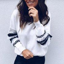 Fashion Floral Print Hoodies Sweatshirts