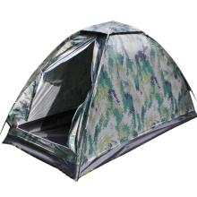 Outdoor Camouflage Tent Beach Tent Camping Tent for 1 Person Single Layer Polyester Fabric Waterproof Tents Carry Bag