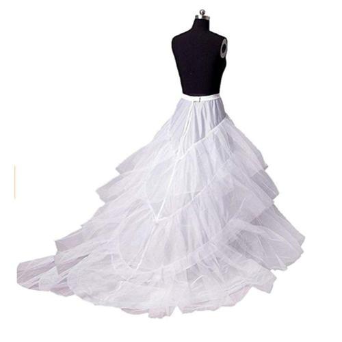 Elegant A Line Wedding Petticoat Tulle Underskirt Women Petticoat Crinoline With Train Bridal Wedding Accessories 2020